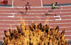 Shooting through the Olympic flame   Photographers Blog