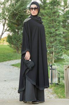 2020 Winter Combines Latest Fashion Winter Women's Clothing and Sweater Models - 2019 Hijab Clothing Modest Fashion Hijab, Abaya Fashion, Fashion Outfits, Muslim Women Fashion, Islamic Fashion, Womens Fashion, Habits Musulmans, Mode Abaya, Modele Hijab