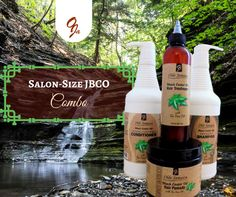The JBCO Salon-Size Combo is back!   Includes: Oil (8 FL OZ), Growth Shampoo (32 FL OZ), Conditioner (32 FL OZ) and Gro n Glo Pomade (13.2 OZ).