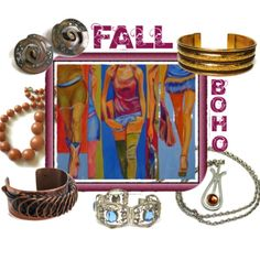 Fall Boho Vintage Jewelry  What's your Fall Style?  Discover #vintage #jewelry…