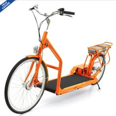 VELO ELECTRIQUE LOPIFIT ROADRUNNER - orange - the Walking Treadmill Bicycle - Just Because ... Say whaaaat!?!