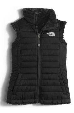 The North Face 'Mossbud Swirl' Reversible Water Repellent Vest (Big Girls) available at #Nordstrom