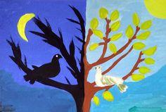 Dichotomie - spelen met licht en donker - De WonderWerkplaats Painting, Art, Art Background, Painting Art, Kunst, Paintings, Performing Arts, Painted Canvas, Drawings