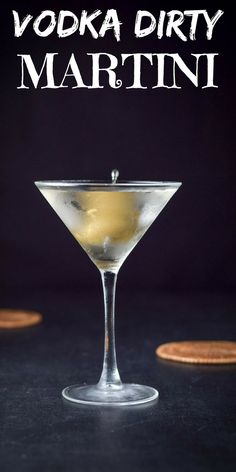 Nothing whets my whistle more than this vodka dirty martini! Perfectly balanced and so delicious you are going to have to control yourself to just take sips! Gin, Triple Sec, Vodka Cocktails, Alcoholic Drinks, Martinis, Martini Bar, Bar Drinks, Yummy Drinks, Dirty Martini Recipe Vodka