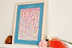 Abstract Art Print- The Rain - 8 x 10 - Open Edition - rain, tear, pink, multi colored. $22.00, via Etsy.