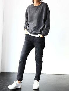 Dark jeans with dark
