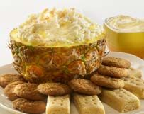 Mascarpone Piña Colada Dip...Serve with cookies, such as ginger snaps or vanilla wafers, fresh pineapple and strawberries...SOOOO GOOD!!!!!!!