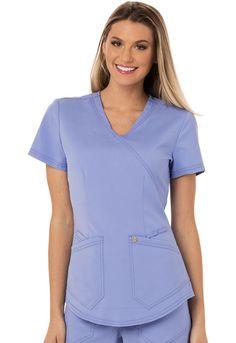 23d08a99e57 Careisma Charming Collection : Mock Wrap Antimicrobial Scrub Top for  Women*. Stylish ScrubsNursing ...