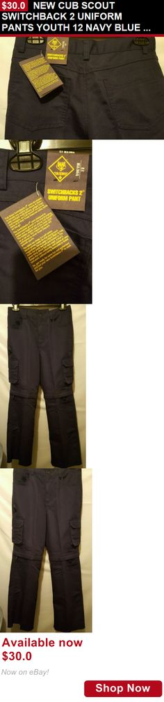 Boys uniforms: New Cub Scout Switchback 2 Uniform Pants Youth 12 Navy Blue Zip Off Pants Shorts BUY IT NOW ONLY: $30.0