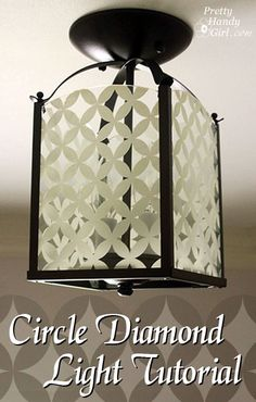 Make Your Own Circle Diamond Light using a ReStore Brass lantern and Martha Stewart Glass Paint! by Pretty Handy Girl