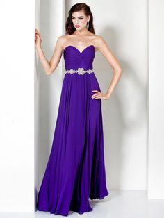 Sheath/Column Sweetheart Chiffon Floor-length Purple Party Dress at dressestylish.com