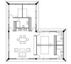 U shaped floor plans shaped home with unique floor plan - Ikea piso 25 metros cuadrados ...