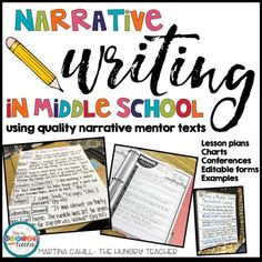 Middle School Narrative Essays and Middle School Writing Conferences - The Hungry Teacher