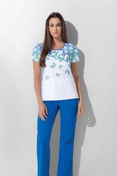 "Dickies Gen Flex ""Butterfly Effect"" Women's Jr. Medical Uniforms, Hospital Uniforms, Medical Scrubs, Nursing Scrubs, Scrub Shoes, Cute Scrubs, Nursing Accessories, Scrubs Uniform, Work Wardrobe"