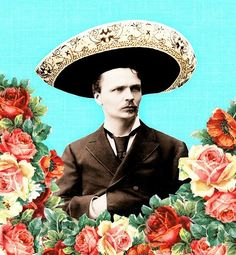 mexican caballero print and pattern art