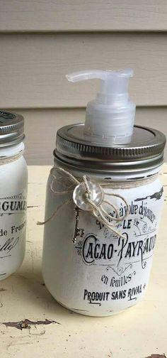 Mason Jar Soap Dispenser.