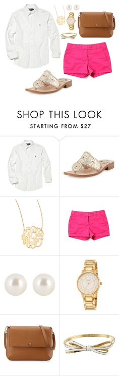 """auditions open!//Mollie Kate"" by prim-and-preppy ❤ liked on Polyvore featuring Polo Ralph Lauren, Jack Rogers, Jennifer Zeuner, Vineyard Vines, Henri Bendel, Kate Spade, Tory Burch, women's clothing, women and female"