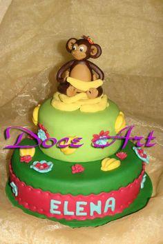Monkey Cake  - Cake by Magda Martins - Doce Art