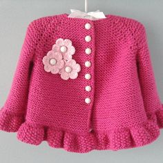 Baby Knitting Patterns, Pattern Baby, Baby Girl Patterns, Baby Hats Knitting, Crochet Pattern, Crochet Toddler Dress, Knit Baby Dress, Knitted Baby Cardigan, Knit Baby Sweaters