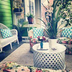 a floral sunroom, jamie meares