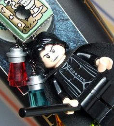 Severus Snape Bookmark made from LEGO r Pieces   by MoLGifts, $21.00