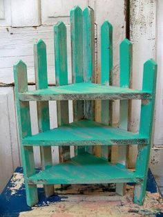 Fence panel corner shelf