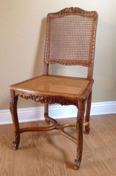 Nice Cane Back Chair Vintage French Regency