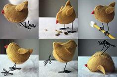 Птички своими руками из фетра, фото игрушек, броши-украшения