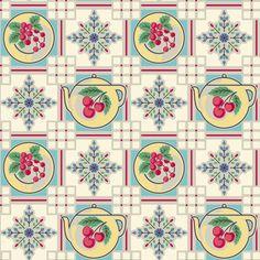 1940s Retro Kitchen Wallpaper