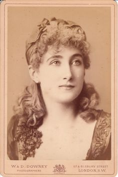 Maude Branscombe, a very popular stage beauty  opera singer in the 1880's. She was reported to be the most photographed woman of her day