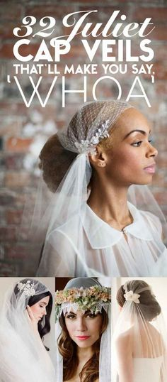 32 Juliet Cap Wedding Veils That'll Make You Say