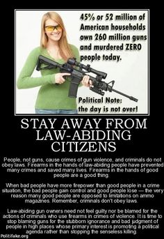 53 Million Households Own 260 Million Guns And Murdered Zero People Today