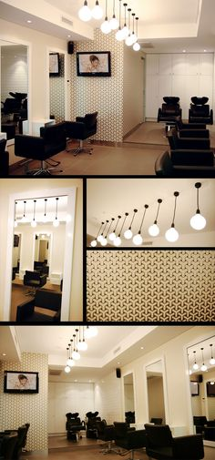 Imperial Hair Salon | Simple white mirrors paired with The Gwyneth Chair http://stand.sh/gwyneth