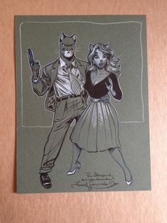 Blacksad et Natalia - Guarnido par Juanjo Guarnido - Oeuvre originale Blacksad and Natalia - Juanjo Guarnido original art ! http://www.2dgalleries.com/art/blacksad-et-natalia-guarnido-18346