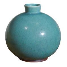 Saxbo Vase, Denmark, c. 1950, glazed ceramic, stamped Saxbo Denmark.