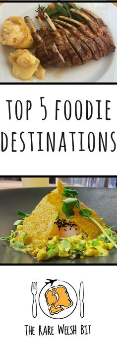 A travel guide to the top 5 foodie destinations around the world, in Europe, the USA, the UK and more. Inspire your food travel bucket list and get new ideas for your trips. #foodtravel #foodiedestinations #foodtourism #portuguesefood #indianfood #amaicanfood #londonfood #belfastfood