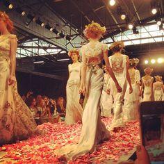 CLAIRE PETTIBONE 2013 #Fashion Show #bridalmarket - Photo by Lindsay Rose