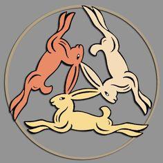 Trois lièvres - Drei hasen - Three hares
