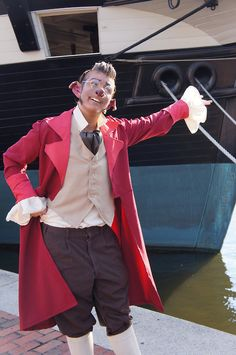 Dr. Delbert Doppler cosplay -- Treasure Planet. And now there needs to be an equally fabulous Captain Amelia
