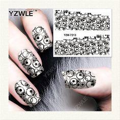 YZWLE 1 Sheet Decalcomanie FAI DA TE Nails Art Stampa di Trasferimento Dell'acqua Adesivi Accessori Per Manicure Salon YZW-7313