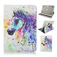 """For Lenovo Tab3 10.1"""" Inch Tablet Colorful Horse Painting Case Cover"""