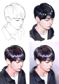 Fantasting Drawing Hairstyles For Characters Ideas. Amazing Drawing Hairstyles For Characters Ideas. Jungkook Fanart, Kpop Fanart, Bts Jungkook, Digital Painting Tutorials, Digital Art Tutorial, Art Tutorials, Kpop Drawings, How To Draw Hair, Art Studies