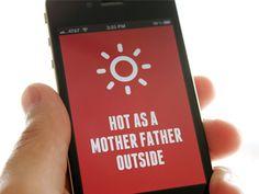 Dribbble - Simple Weather App by Brian Plemons