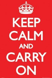 Keep calm and carry on #poster #vintage