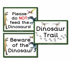 Role Play signs/posters from our Dinosaur Park Gift Shop Role Play Resources. There are many other great dinosaur themed resources on this role play, such as opening times, gift shop price lists, dinosaur themed borders etc. For more resources please check out our site.