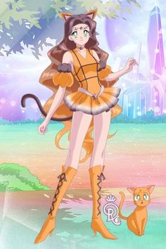 Made in honor of my sweet kitty who recently passed away. Made by Shannon Stickel using doll divine's senshi maker. Sailor Princess, Disney Princess, Saylor Moon, Doll Divine, Warrior Girl, Sailor Scouts, Sailors, Disney Art, Warriors