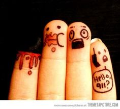 Zombie Finger Art