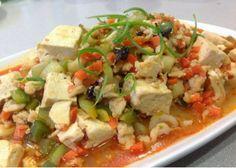 Tofu Chicken With Spicy Chili Black Bean--- 辣椒豆豉豆腐雞