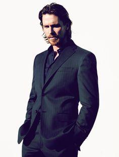 Christian Bale in elegant suit