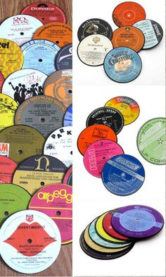From Vinyl To Divinyl: 12 Groovy Ways to Upcycle Vinyl Records Ideas only no patterns Vinyl Record Crafts, Vinyl Crafts, Vinyl Art, Cd Crafts, Crafts To Do, Arts And Crafts, Old Vinyl Records, Recording Studio Design, Cd Art